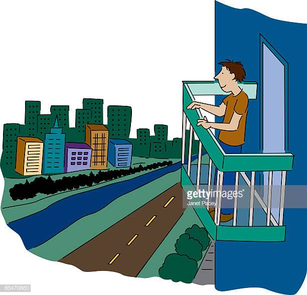 60 Top Balcony Stock Illustrations, Clip art, Cartoons and Icons.