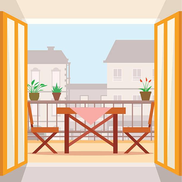 Best Balcony Illustrations, Royalty.