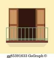 Balcony Clip Art.