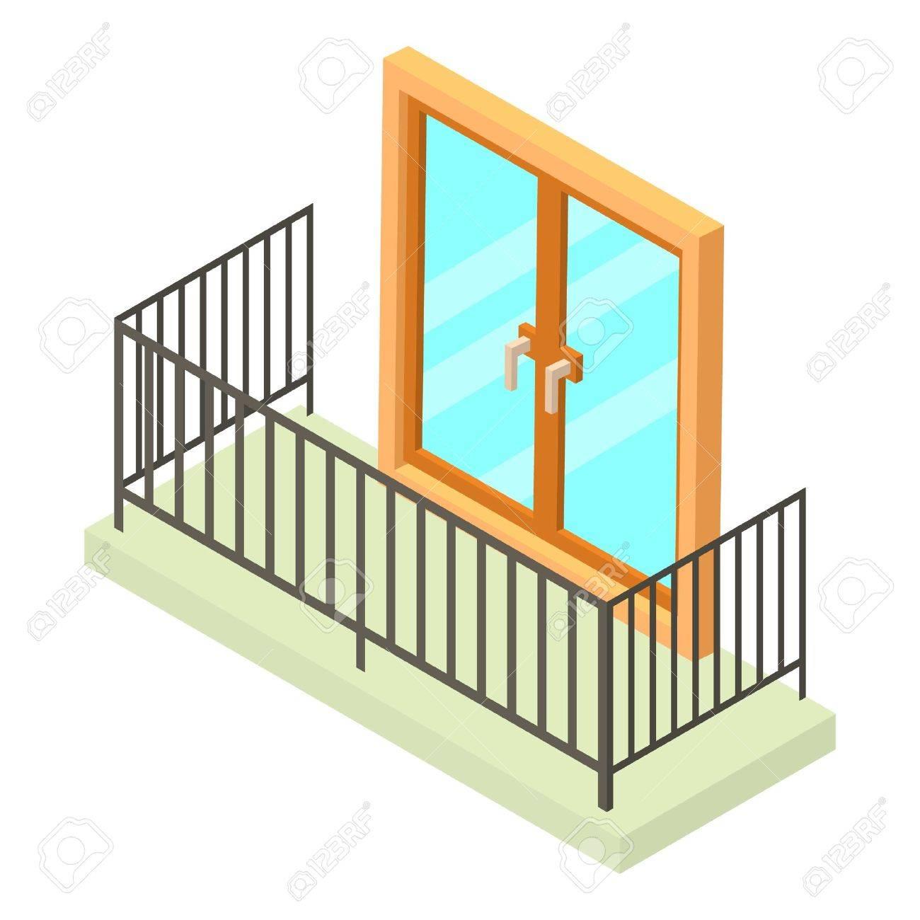 Balcony icon. Isometric illustration of balcony vector icon for...