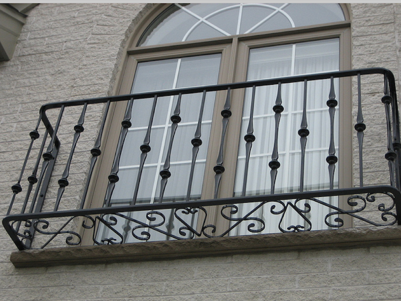 Iron,Metal,Handrail,Balcony,Baluster,Guard rail,Window,Gate #4401161.