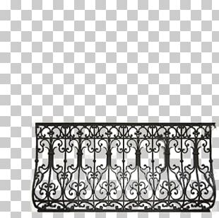 Handrail Wrought Iron Balcony Iron Railing Baluster PNG, Clipart.