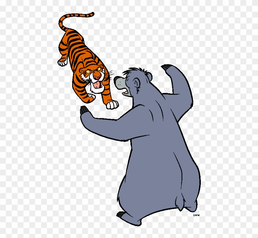 The Jungle Book Group Clip Art.