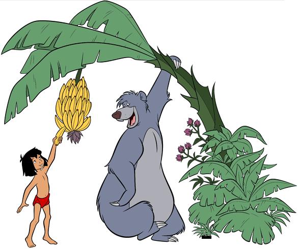 Baloo and Mowgli Clip Art.