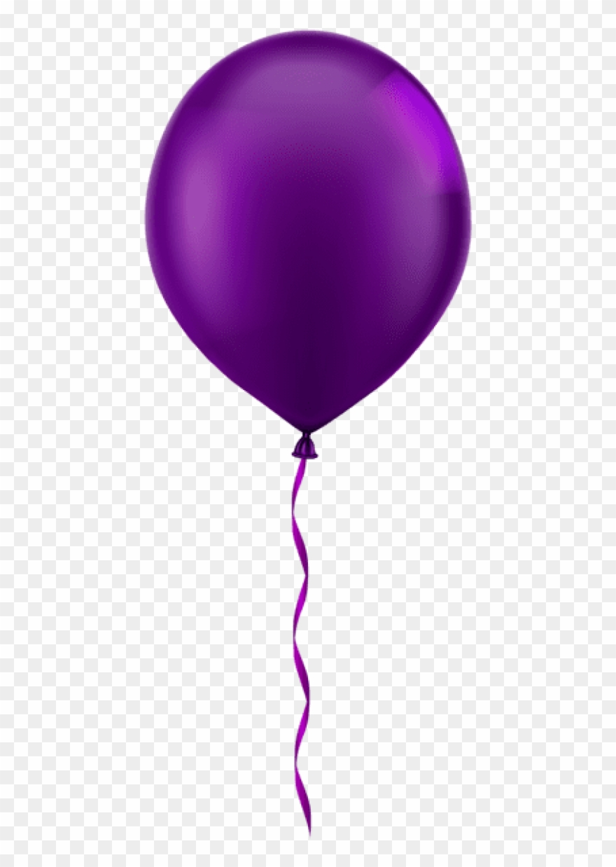 Free Png Single Purple Balloon Png Images Transparent.