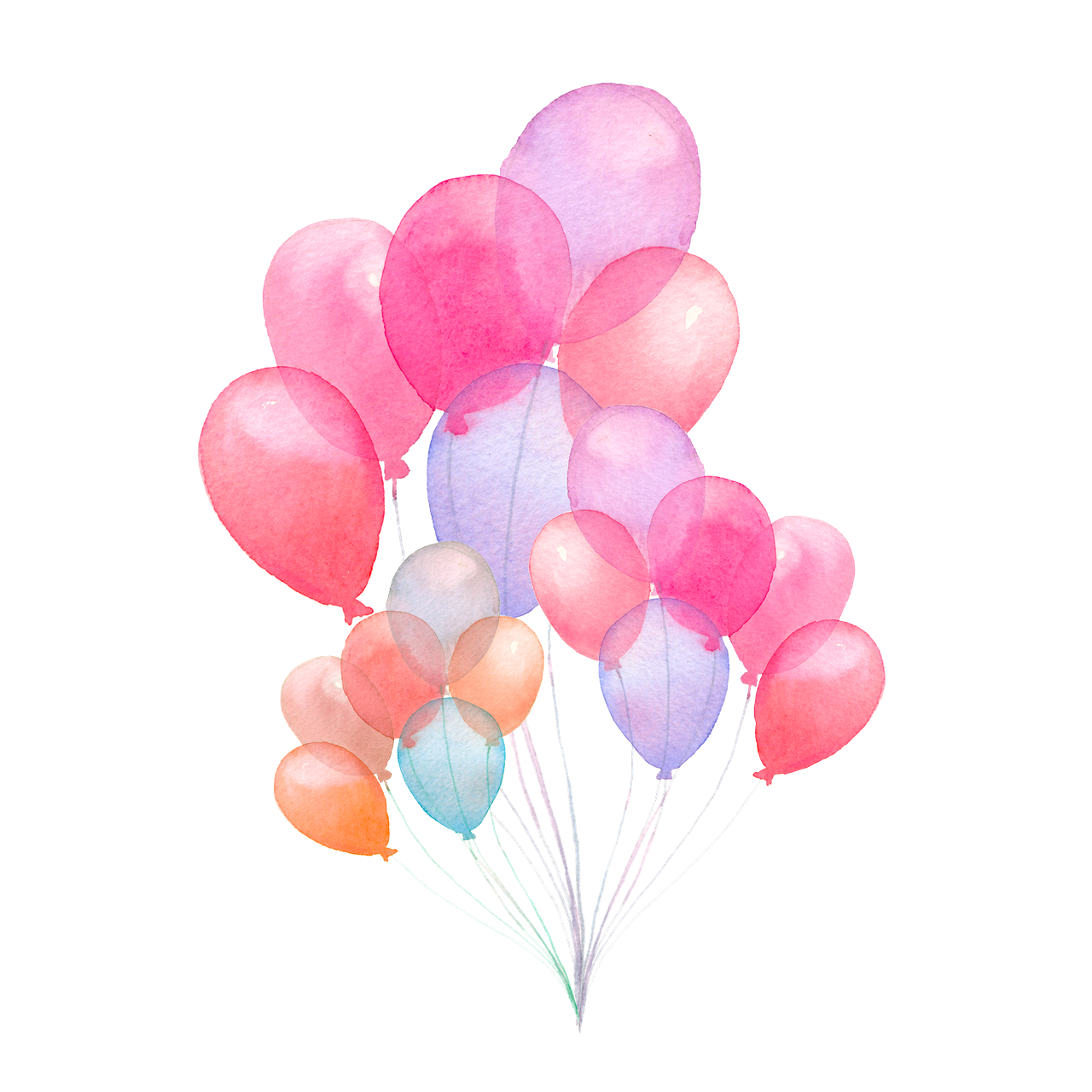 Colorful Balloons PNG Picture.