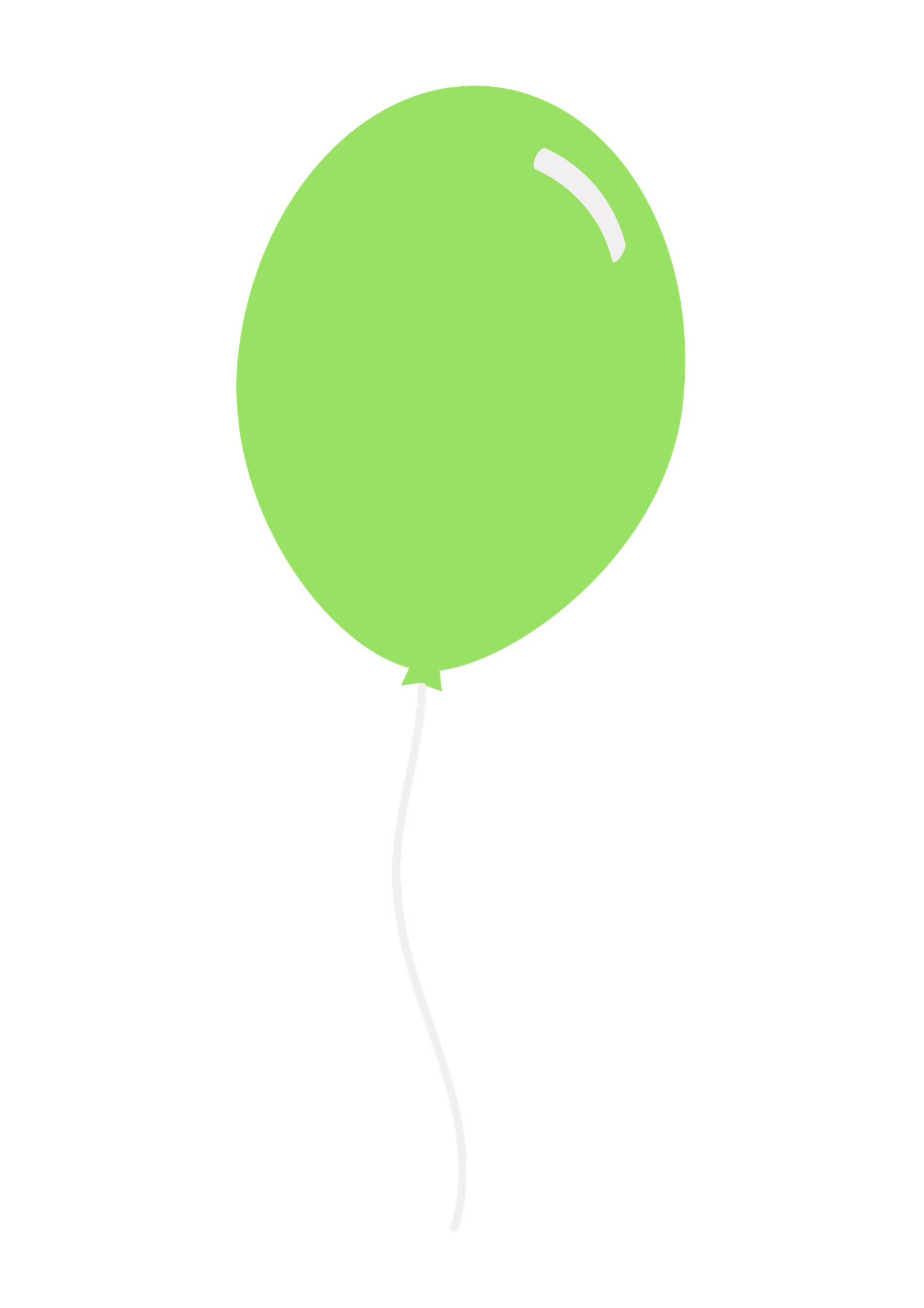 Green balloon png Free Download.