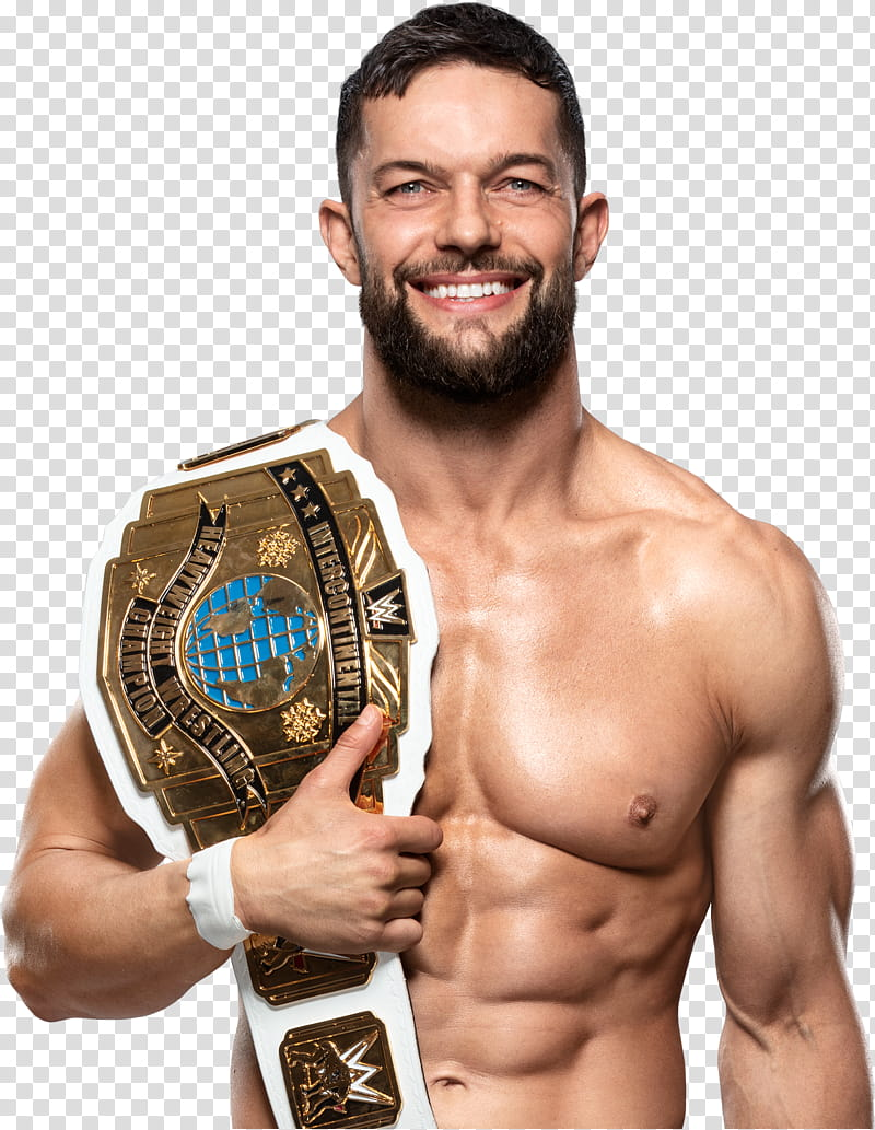 Finn Balor IC Champion NEW nd HD transparent background PNG.