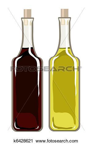 Clipart of Olive oil and balsamic vinegar k6428621.