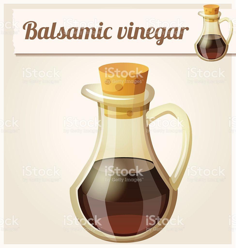 Balsamic Vinegar Detailed Vector Icon stock vector art 485001864.