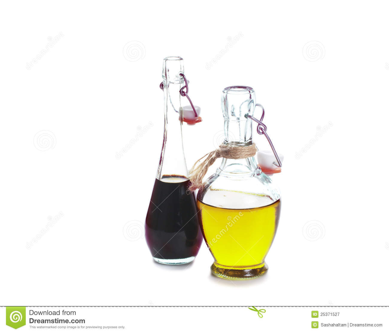 Balsamic Vinegar And Olive Oil Royalty Free Stock Photography.