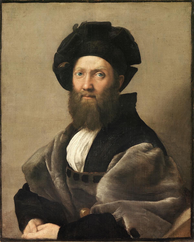 Portrait of Baldassare Castiglione.