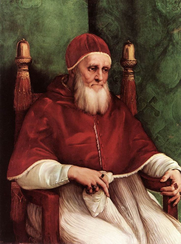 Portrait of Pope Julius II, 1512. Oil on wood. Raphael. Pope.