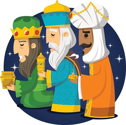 Three Wise Men Kings Melchior Gaspard Balthazar.