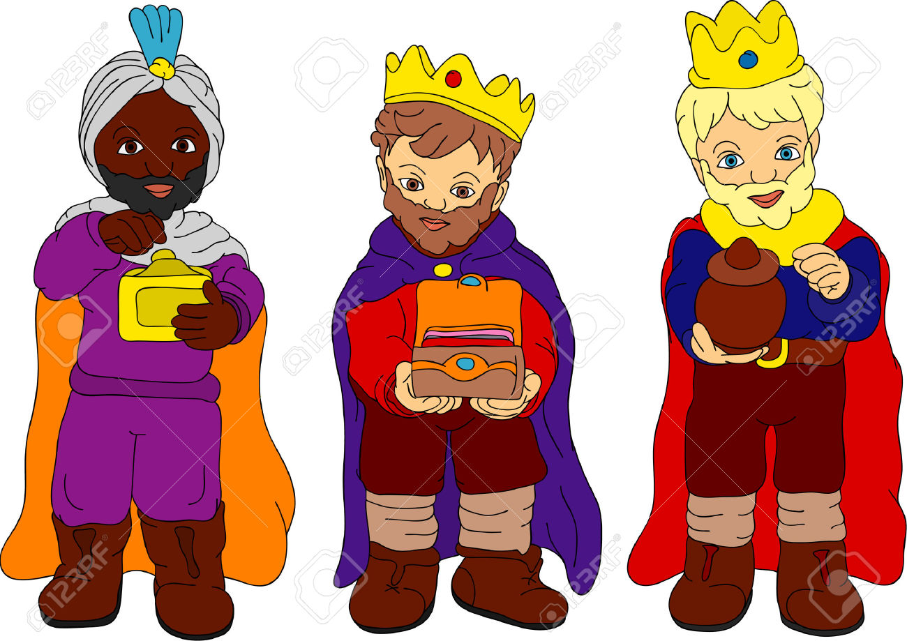 Christmas clipart three kings free.