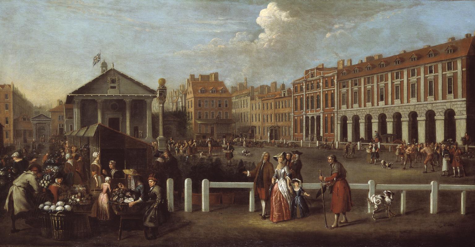 Covent Garden Market', Balthazar Nebot, 1737.