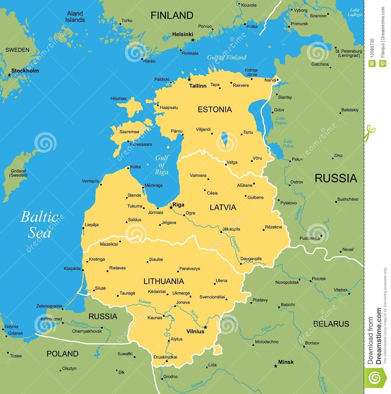 Baltic Stock Illustrations.