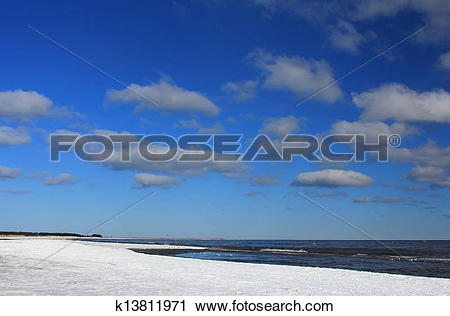 Clipart of Winter on the Baltic Sea k13811971.