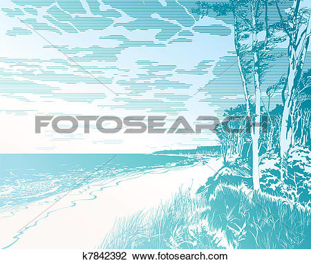 Clipart of Seaside at Baltic Sea k7842392.
