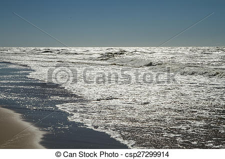 Clipart of sea in summer.