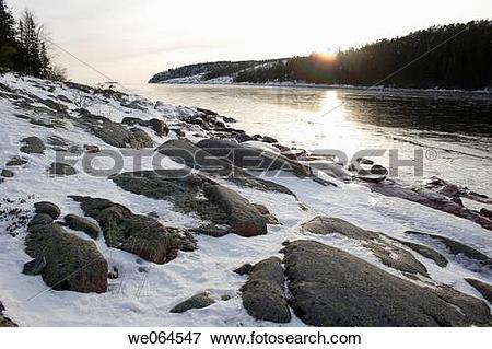 Picture of Frozen Sea. Norrf?llsviken, H÷ga Kusten, coast of.