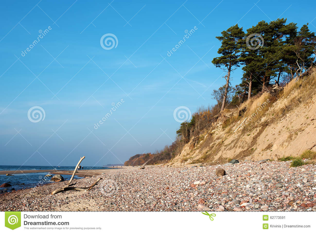 Autumn In The Baltic Sea Coast Of Lithuania Stock Photo.