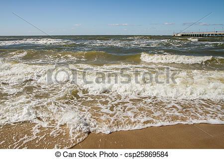 Stock Illustration of Baltic sea waves.