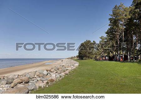 Stock Images of Beach resort of Kabli in Estonia, on the Baltic.