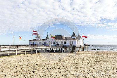 Pier At Baltic Sea Resort Goehren, Rugia Island Editorial Stock.