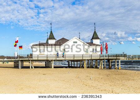 Ahlbeck Beach Stock Photos, Royalty.
