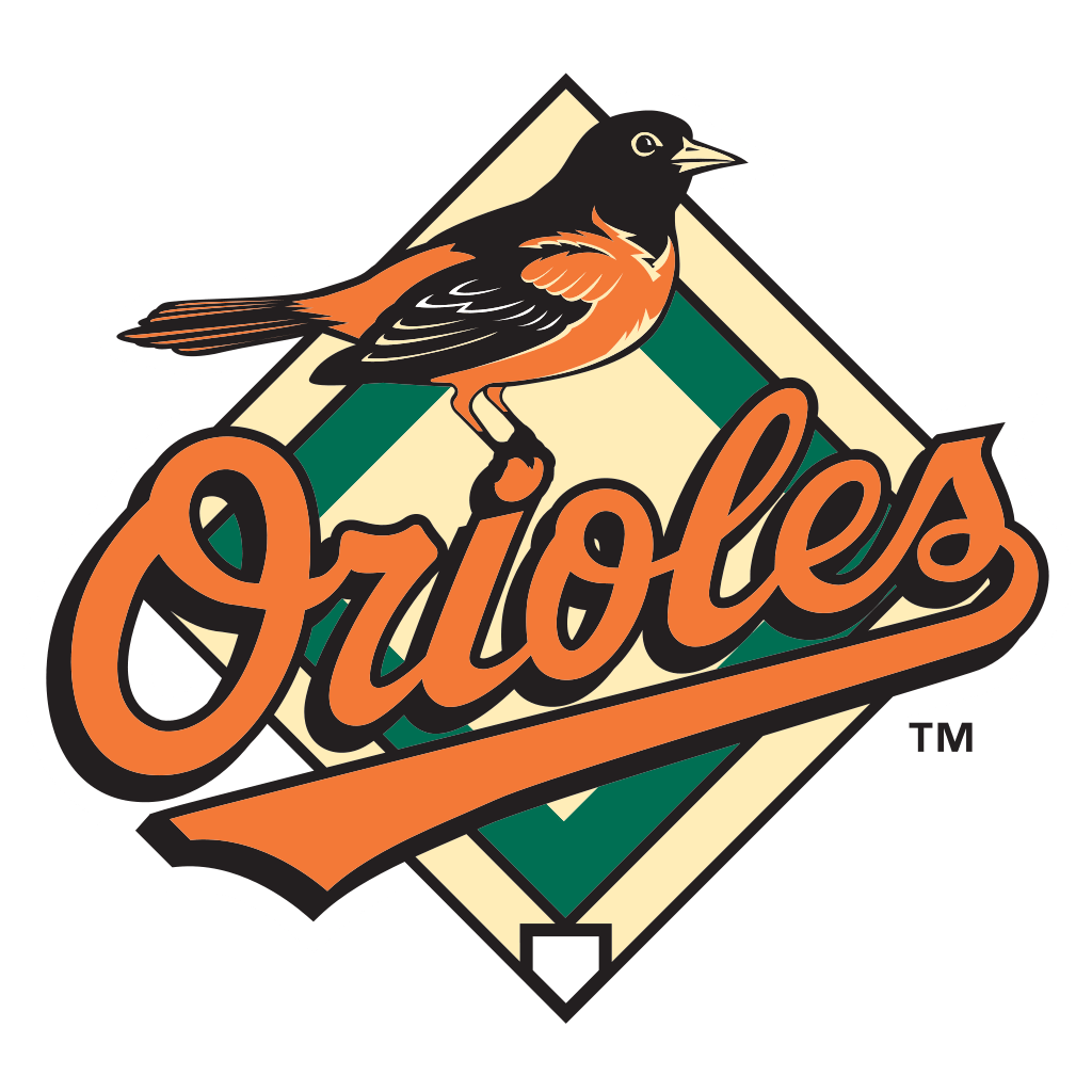 Baltimore Orioles Bird Logo transparent PNG.