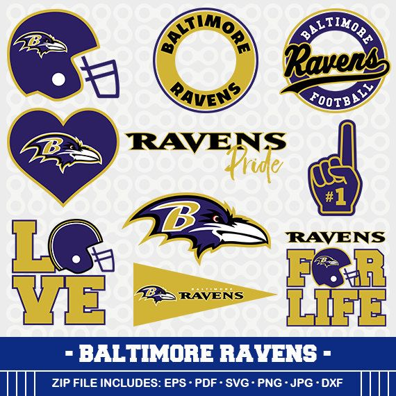 Baltimore Ravens SVG, Ravens Football, Svg Cameo, DXF File.