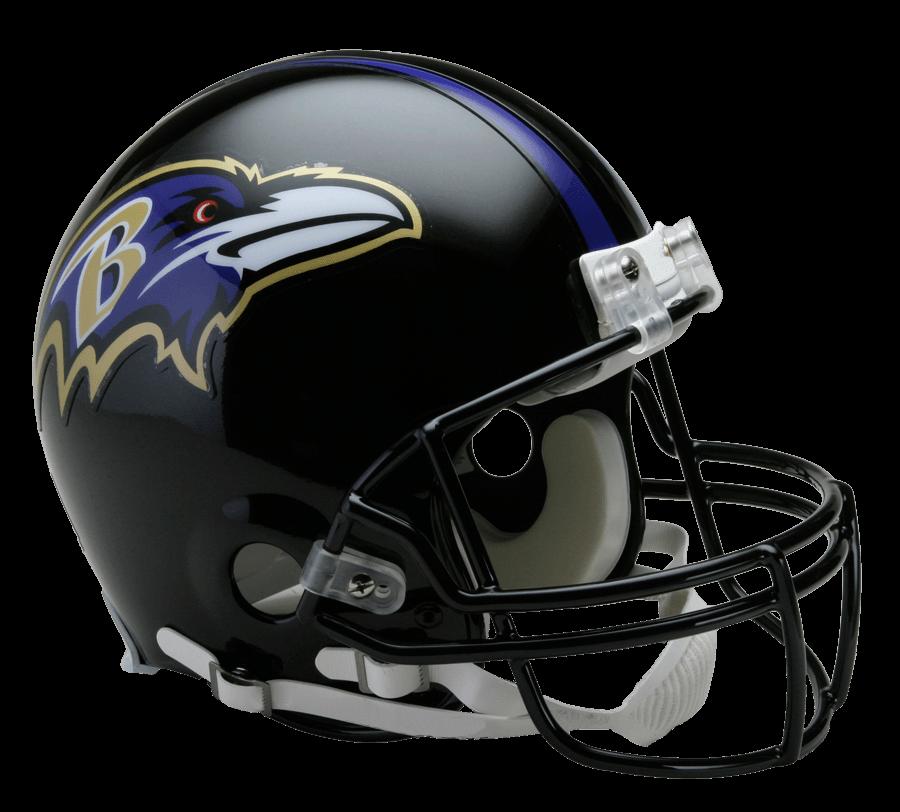 Baltimore Ravens Helmet transparent PNG.
