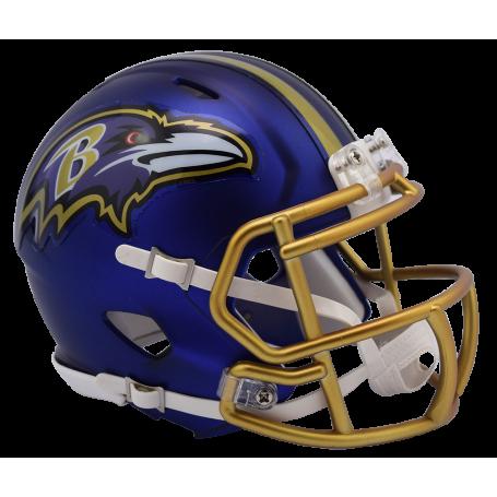 Baltimore Ravens Blaze Alternate Speed Mini Helmet.