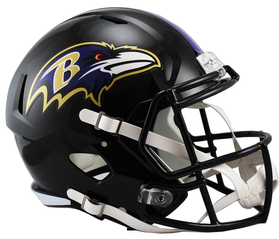 Baltimore Ravens Speed Replica Helmets.