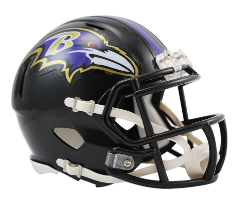 Baltimore Ravens Speed Mini Helmet.