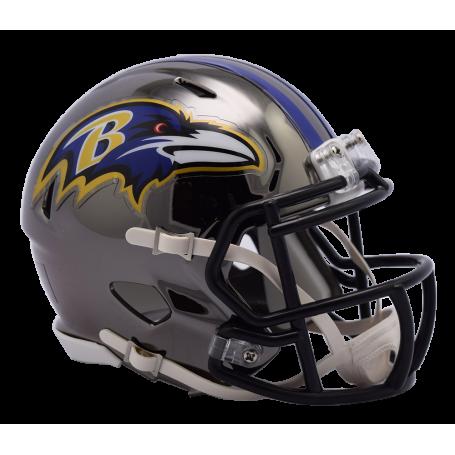 Baltimore Ravens Chrome Mini Speed Replica Helmet.