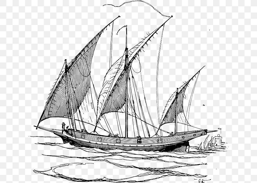 Sailing Ship Dhow Sailboat Clip Art, PNG, 640x586px, Sailing.