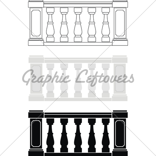 Architectural Element Balustrade · GL Stock Images.