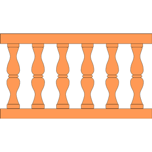 Classical balustrade clipart, cliparts of Classical balustrade.