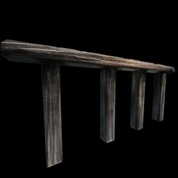 Wooden Railing.