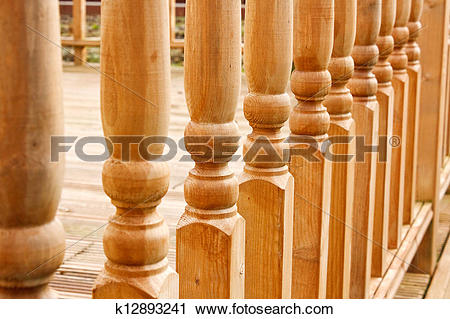 Stock Photography of Row of carved Balustrades k12893241.