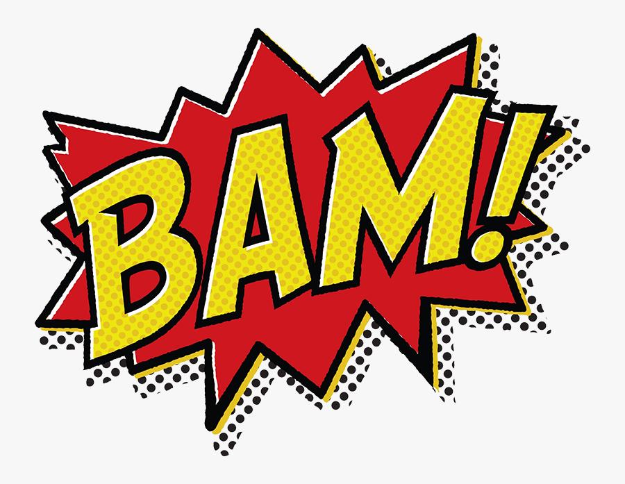 Comic Book Bam Pow , Free Transparent Clipart.