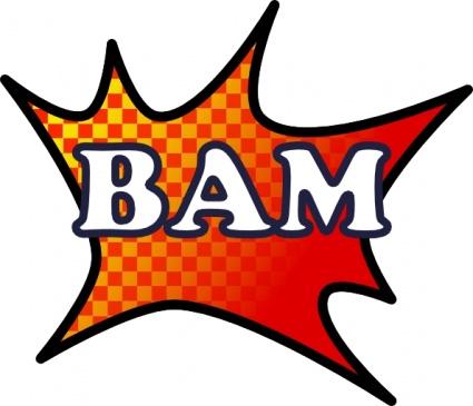 Bam Splash clip art Clipart Graphic.
