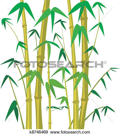 Clip Art of bamboo background k8953097.
