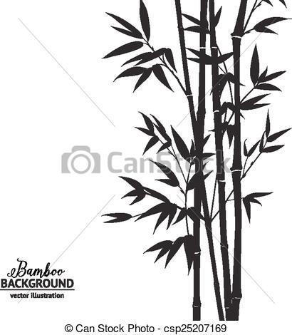 Clip Art Vector of Bamboo bush..