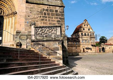 Stock Photography of Bamberg Cathedral of St. Peter and St. George.