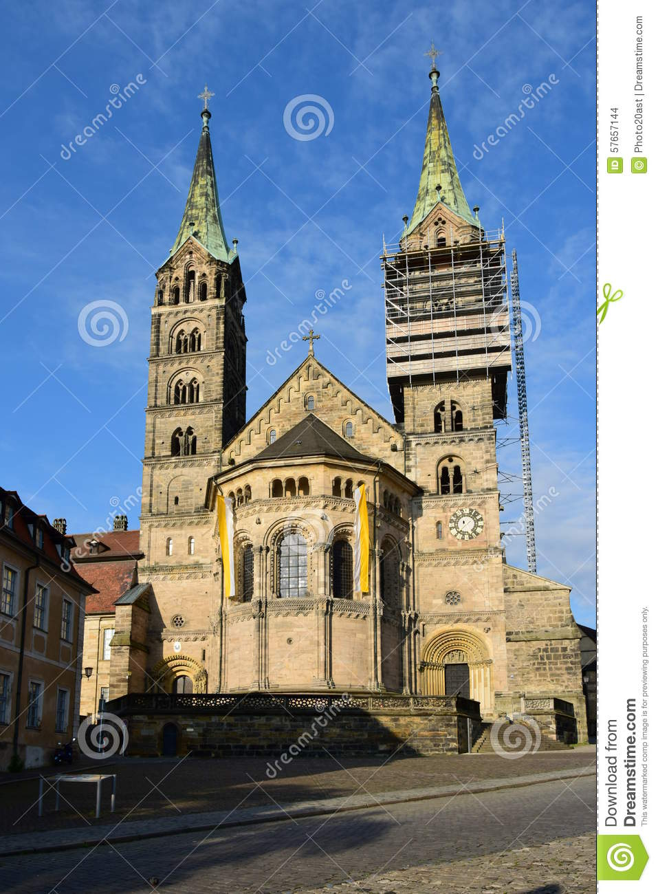 Imperial Cathedral (Kaiserdom) In Bamberg, Germany Editorial Stock.
