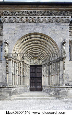 "Stock Images of ""Furstenportal portal, Bamberg Cathedral."
