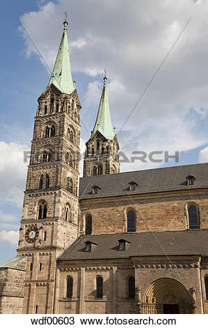 Stock Photo of Germany, Bavaria, Franconia, Bamberg Cathedral.